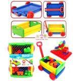 ราคา Todds Kids Toys ของเล่นเสริมพัฒนาการ บล็อกตัวต่อจัมโบ้ 30 ชิ้น พร้อมรถลาก ถูก