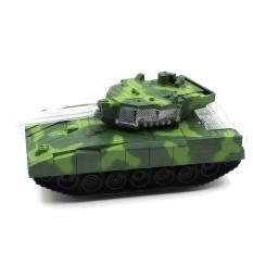 Toon World รถถังใส่ถ่านชนถอย มีไฟมีเสียง Tank With Lights And Sound.