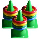 เกมส์โยนห่วง โยนห่วง ชุดกลาง Toss Game M สีเขียว 3 ชุด ใหม่ล่าสุด