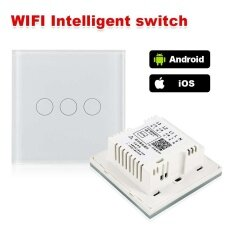 Touch Wifi Wall Light Switch Wireless Led Touch Switch Remote Phone App Control - Intl.