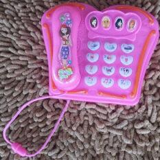 ราคา ราคาถูกที่สุด Toy ของเล่นเด็ก โทรศัพท์ปุ่มกด ดนตรี สีชมพู