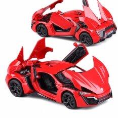ขาย Toys Games Die Cast Vehicles New Arrival 1 32 Fast Furious 7 Lykan Hypersport Diecast Model Car With Light Sounds Door Opening Red Intl ผู้ค้าส่ง