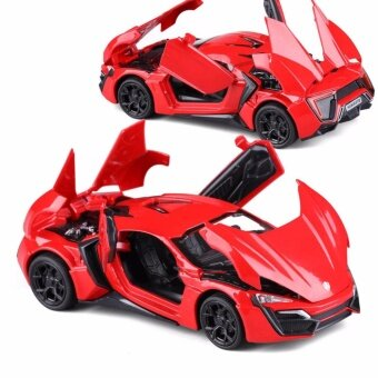 Toys Games Die-Cast Vehicles  New Arrival 1:32 Fast Furious 7 Lykan Hypersport Diecast Model Car With Light SoundsDoor Opening-Red - intl