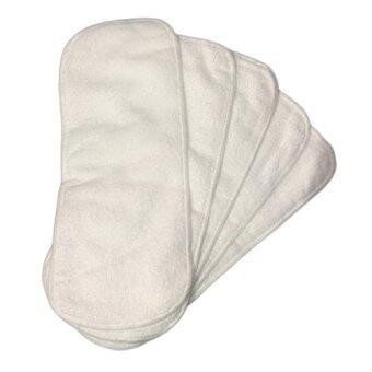 TuckyJiang ผ้าซับปัสสาวะ ไมโครไฟเบอร์ 5 ชิ้น (สีขาว)