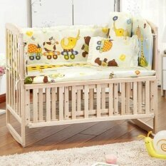 Uinn 100*58cm 5pcs/set Promotion Cotton Baby Children Bedding Set Yellow - Intl.