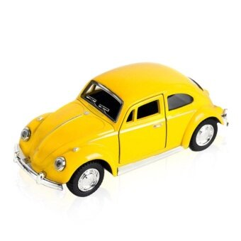 UINN Classic Toys Car Alloy Metal Pull Back Collection Model For Children Gift yellow - intl