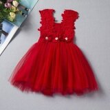 ซื้อ Ustore New Summer Baby Girls Lace Flowers Casual Kids Vest Dress Sleeveless Dress Red 90 Intl ออนไลน์ ถูก