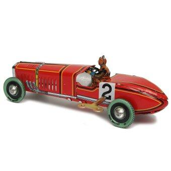 Vintage Wind Up Racing Race Car Model Clockwork Tin Toy Great Collectable Gift - intl