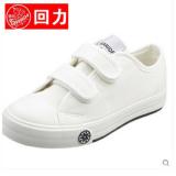 ราคา Warrior สีขาวเด็กชายและเด็กหญิงที่จะช่วยให้รองเท้าผ้าใบรองเท้าต่ำ Velcro แท้รองเท้าเด็ก ที่สุด