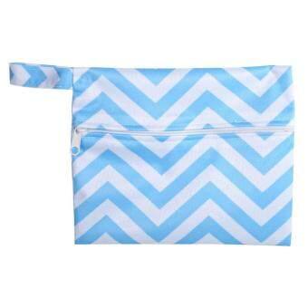 Washable Wet Bag Sanitary Menstrual Pad Towel Holder Organizer Waterproof Storage(Blue) - intl