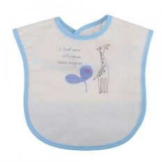 Sweetbaby กันน้ำเด็กทารกรูปแบบการ์ตูนชายหญิงเด็กทารกผ้ากันเปื้อนมื้อกลางวันอุปกรณ์ป้อนอาหาร ยีราฟสีฟ้า - Intl By Sweetbaby123.