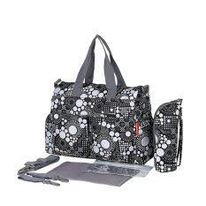 ซื้อ Waterproof Mummy Bags Baby Diaper Nappy Changing Handbag Black And White Intl Magideal