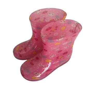 ฤดูใบไม้ร่วงและฤดูหนาวเด็กเพิ่มขนรองเท้าบูทกันฝนสำหรับเด็กตัวเล็กและกลาง Petpet แฟชั่นคริสตัลรองเท้ายางชายและหญิงเด็กประถมกันลื่นกันหนาวรองเท้ากันฝน