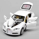 ราคา White Alloy Diecast Car Model 1 32 Bugatti Veyron 16C Galibier W Light Sound Intl ใหม่
