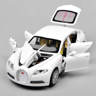White Alloy Diecast Car Model 1/32 Bugatti Veyron 16C Galibier w/lightsound - Intl