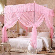 ราคา White Luxury Princess Four Corner Post Bedding Canopy Mosquito Netting Pink Intl Unbranded Generic Thailand