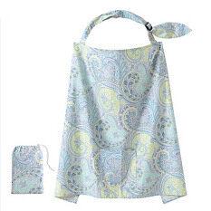 ราคา Whyus Mum Mother Women Cotton Cover Baby Infant Breastfeeding Nursing Blanket Shawl Blue ที่สุด