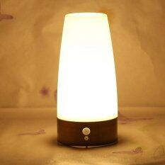 ราคา Wireless Motion Sensor Night Light Bedroom Battery Powered Led Table Lamp Intl ถูก