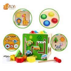 ซื้อ Oily Case ของเล่นไม้ ชุดหยอดบล็อก ค้อนทุบ 2 In 1 ถูก