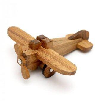 Wood Toy ของเล่นไม้ เครื่องบินไม้ประกอบ