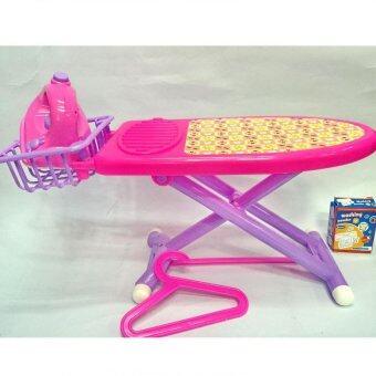Worktoys ชุดเตารีดจำลอง โต๊ะรีดผ้าของเล่น พร้อมเครื่องซักผ้า มีไฟ มีเสียง