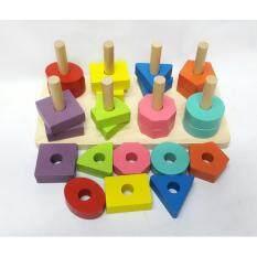 โปรโมชั่น Worktoys ของเล่นไม้ สวมหลัก รูปเรขาคณิต 8 เสา กรุงเทพมหานคร