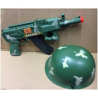 share ปืนเด็กเล่น ของเล่น ปืน พร้อม หมวกลายทหาร