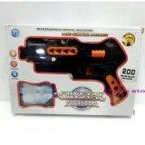 ราคา ราคาถูกที่สุด Worktoys ปืน Crystal Fighter ปืนสั้นอัดลม กระสุนโฟม กระสุนน้ำ มีไฟ และอินฟาเรด สีดำ