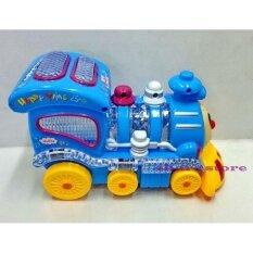 Worktoys รถไฟชนถอย มีเสียง มีไฟ  Funny Train Choochoo No.618 (สีน้ำเงิน).
