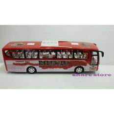 Worktoys Luxury Bus รถบัส รถเมล์ มีไฟ มีเสียงเพลง ชนถอย วิ่งเลี้ยวได้เอง (สีแดง) .