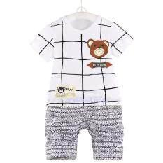 ขาย Yeeshop ชุดเสื้อผ้าเด็กเข้าชุด ลายตารางหมี สีขาว 100 3Years W12 ถูก Thailand