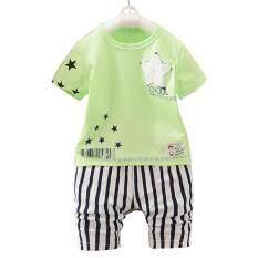 ซื้อ Yeeshop ชุดเสื้อผ้าเด็กเข้าชุด ลายดาว สีเขียว 110 3Years G111 ออนไลน์ ไทย