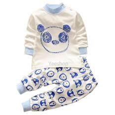 ซื้อ Yeeshop ชุดเสื้อเด็กแขนยาว ลายหมีแพนด้า สีฟ้า 65 100 3Years Yeeshop ถูก