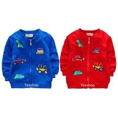 ขาย Yeeshop ชุดเสื้อผ้าเด็กแจ็คเก็ตแขนยาว ลายไดโนเสาร์ รถ 2ชุด สีแดง สีฟ้า 1 3Years ใน ไทย