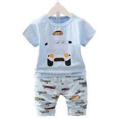 ซื้อ Yeeshop ชุดเสื้อเด็กเข้าชุด ลายรถเบอร์ 5น่ารัก สีฟ้า 100 1 3Years Yeeshop ออนไลน์