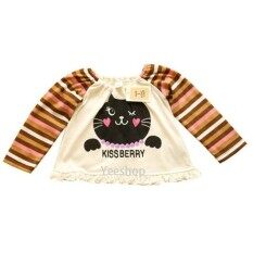 ราคา Yeeshop เสื้อเด็กแขนยาว ลายแมวน้อยน่ารัก สไตล์ญี่ปุ่น 80 3Years