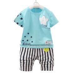 ขาย Yeeshop ชุดเด็ก เสื้อ กางเกงเข้าชุด ลายดาว สีฟ้า 120 3Years ไทย ถูก