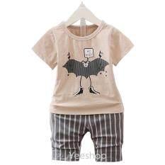 ราคา Yeeshop ชุดเสื้อผ้าเด็กเข้าชุด ลายมนุษย์ค้างคาวน่ารัก สีโกโก้อ่อน 120 1 3Years ออนไลน์