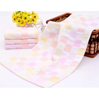 Yika ผ้าฝ้ายผ้าคลุมเตียงสแควร์เด็กผ้าเช็ดตัวเด็กทารก ผ้าขนหนู