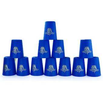 YJ แก้วสแต็ค YJ Cup Set 12Pcs Speed Stacks Cups Indoor Sports Stacking Rapid Fast For Family Game (Blue)-