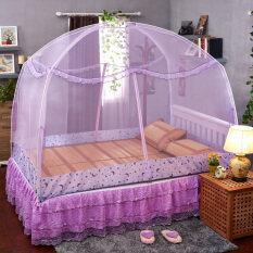 ราคา เพิ่มความสูงคู่เปิดเตียงซิปเดี่ยว Yurts มุ้ง