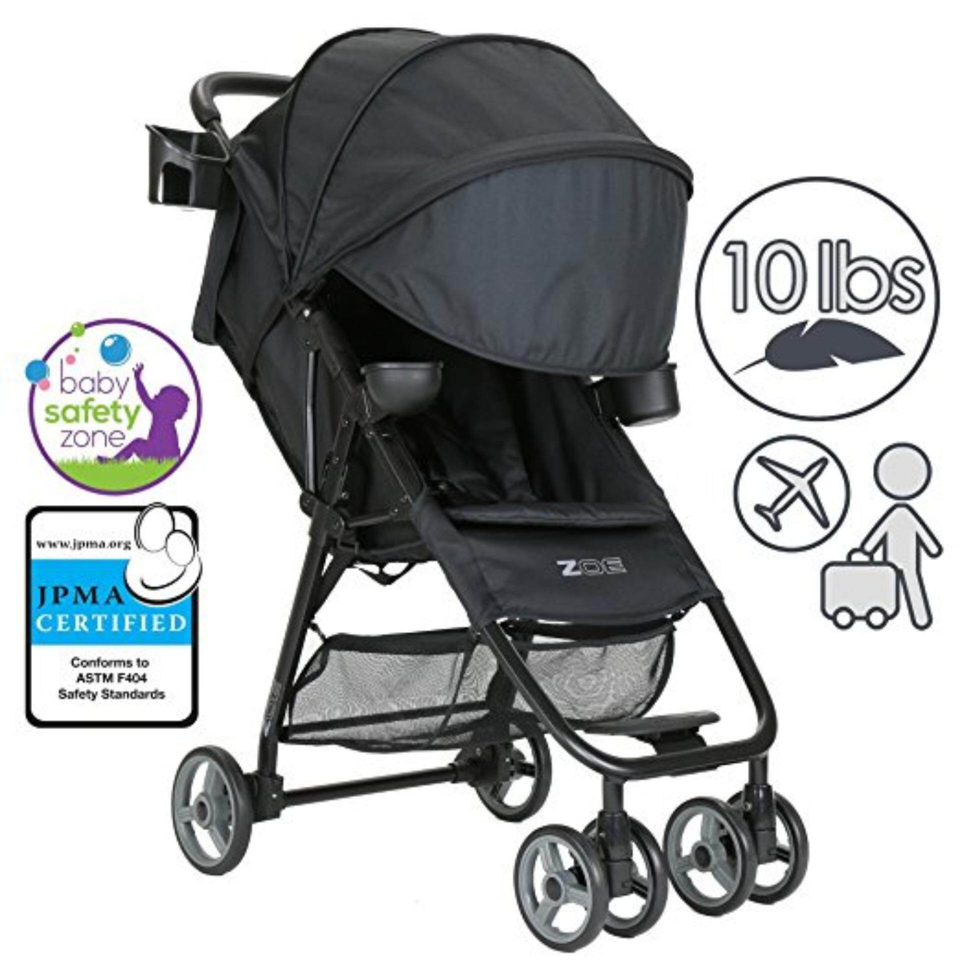 อยากให้แนะนำข้อดี ZOE : ZOEXL1-DLX-BK* รถเข็นเด็ก Umbrella XL1 Single Stroller, DELUXE - Black ดีที่สุด