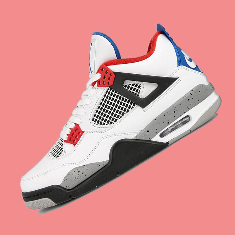 Nike_Air_Jordan4_What The AJ4 red and blue mandarin duck basketball shoes CI1184-146
