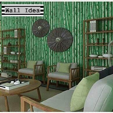 New!!! Wall Ideas วอลเปเปอร์ผนัง สติกเกอร์ผนัง Pvc มีกาวในตัว ขนาด 45 Cm X 10 M ลายต้นไผ่.