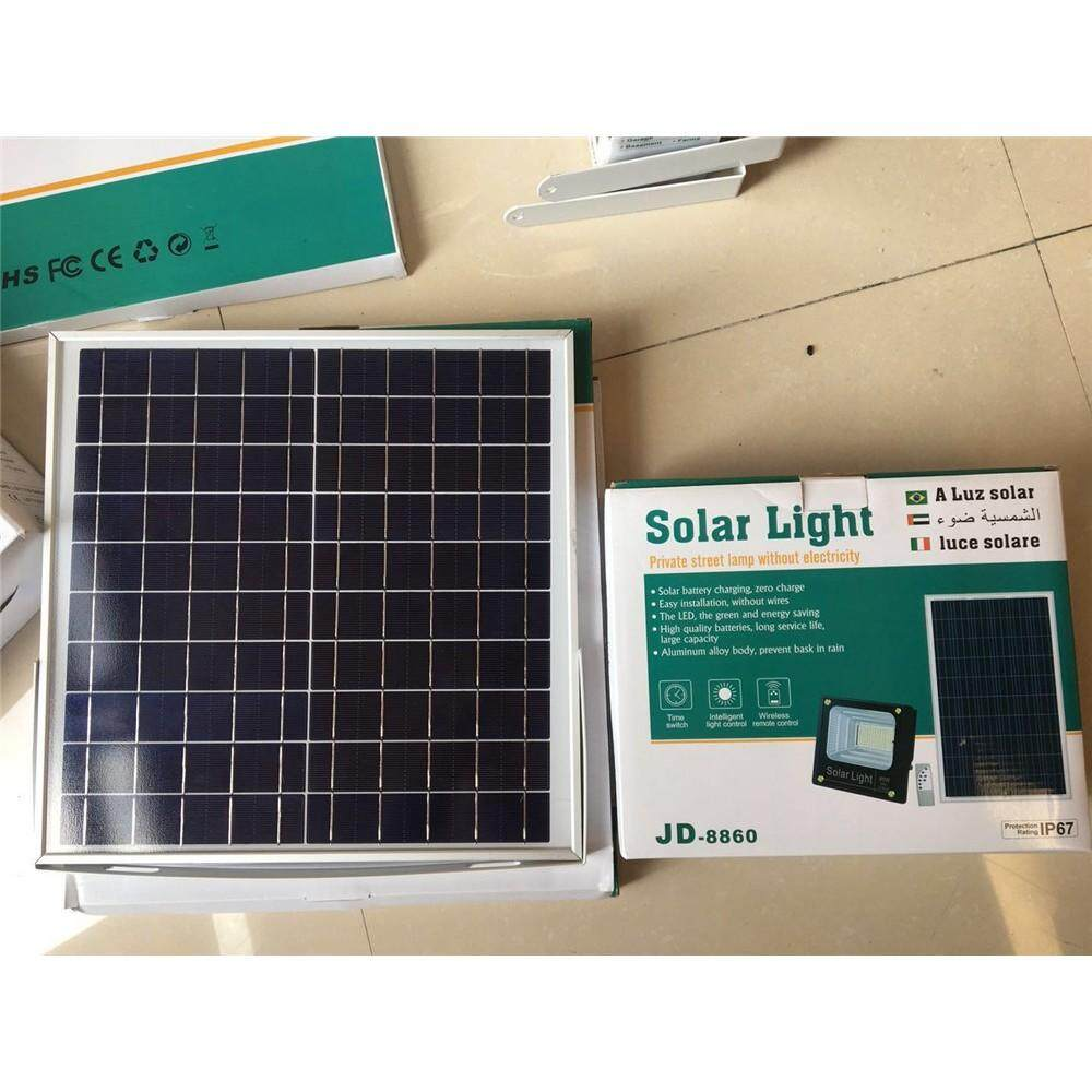รีวิว ราคาพิเศษ+ส่งฟรี  สปอร์ตไลท์ Led ไฟโซล่าเซล Solar Cell รุ่น 10W 25W 40W 60W 100W 200W พร้อมรีโมท**60W   มีเก็บปลายทาง