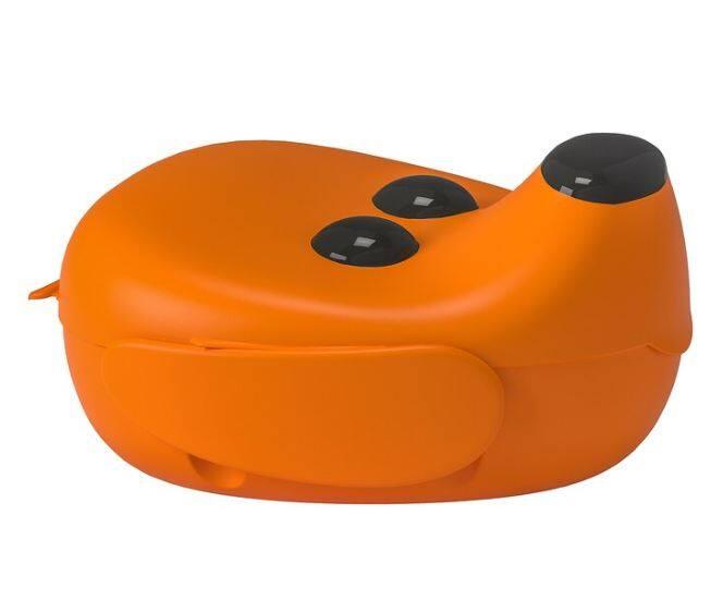 สมัสก้า กล่องใส่อาหาร ฝากล่องเปิดปิดง่าย แค่หมุนที่หู สีส้ม.