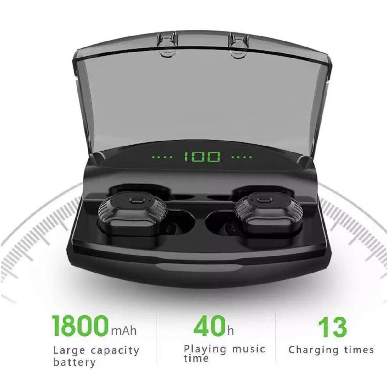 [พร้อมส่ง] ใหม่ 2019!! หูฟังบลูทูธไร้สาย Tws รุ่น Xg21 เป็น Powerbank 1800mah ในตัว หูฟังบลูทูธ หูฟังเล่นเกมมือถือ หูฟังออกกำลังกาย เบสดี กันน้ำ Ipx5 หูฟังอินเอียร์ หูฟังสเตอริโอ หูฟัง Earphone Earbuds True Wireless Bluetooth 5.0.