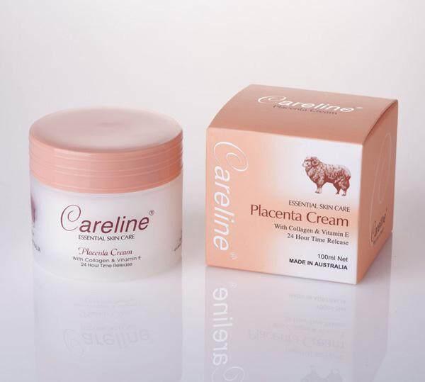 Careline Placenta Cream 100 g. (กล่องส้ม) ครีมรกแกะที่มีส่วนผสม คอลลาเจนและวิตามินอี เนื้อครีมเข้มข้นมีกลิ่นอ่อนโยน ใช้ได้ทั้งกลางวัน-กลางคืน