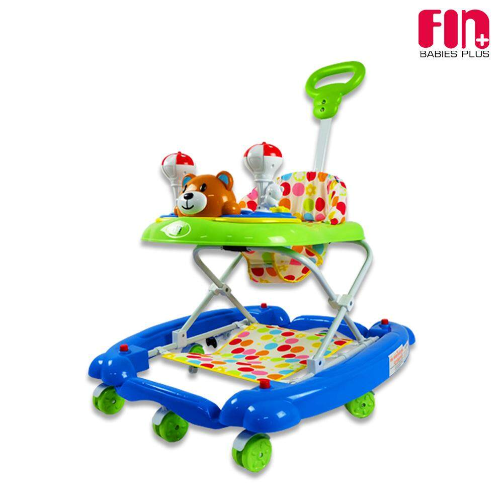 Fin Babies Plus รถหัดเดินน้องหมี ปรับได้ 3 ระดับ รับน้ำหนักได้ถึง 15 กิโลกรัม เหมาะสำหรับเด็กอายุ 6 เดือนขึ้นไป รุ่น Car-5717.