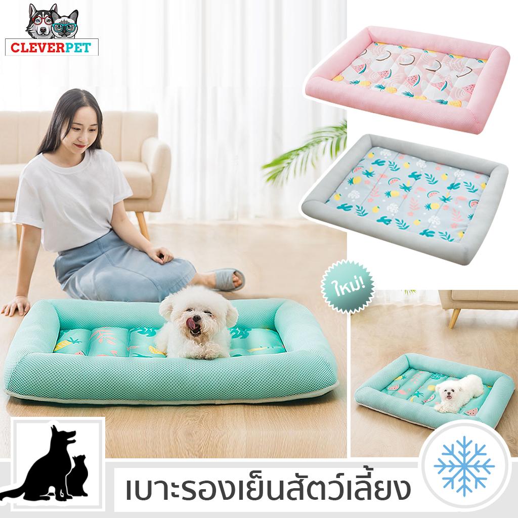 เบาะรองเย็นสัตว์เลี้ยง เบาะเย็นสุนัข ที่นอนสุนัขแบบเย็น เบาะรองระบายอากาศ ที่นอนเย็นหมา ที่นอนสุนัข Cleverpet.